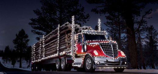 tractocamiones fiestas navidad international