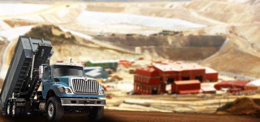 international camiones minería conducción portada