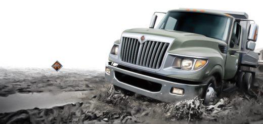 international camiones carga retirar lodo