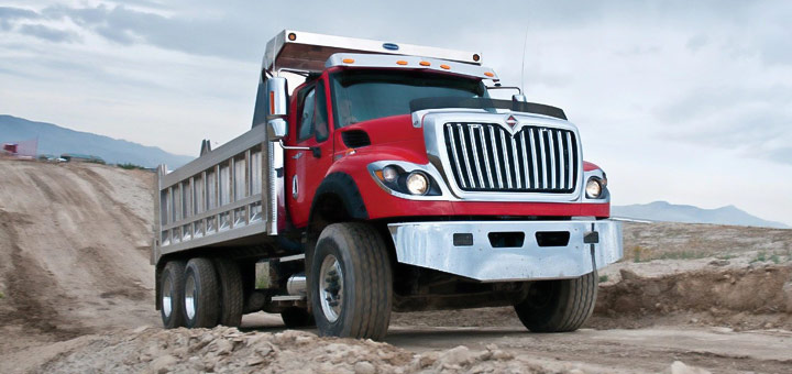 itnernational camiones conducir camion areas montanosas